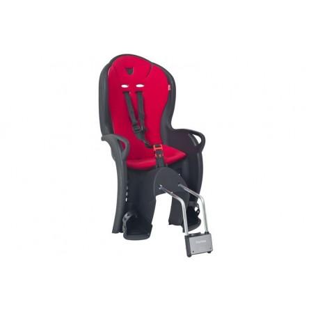 Porte bébé kiss suspendu noir - coussin rouge