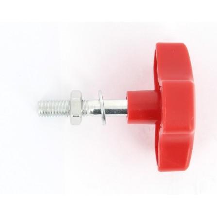 Vis à tête rouge+rondelle+écrou pour pied de réparation ref 4236
