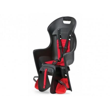 Porte bébé Boodie fixation porte-bagage noir-rouge