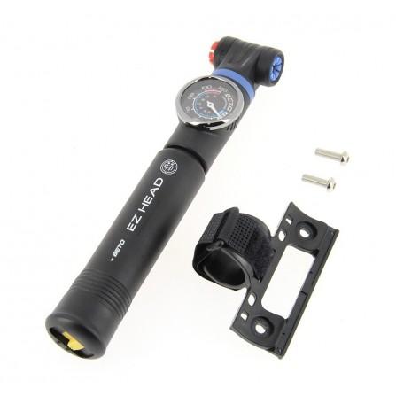 Mini-pompe composite 2 modes de gonflage avec manométre EZ-HEAD