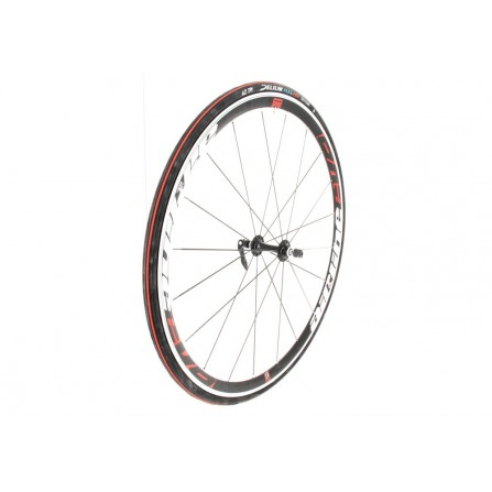 Pneu course tringle souple 700X25 62 TPI noir-rouge