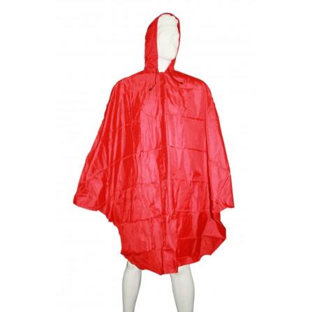 Poncho pluie imperméable adulte Rouge Taille S-M