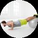 Ballon de gym 75 cm + pompe