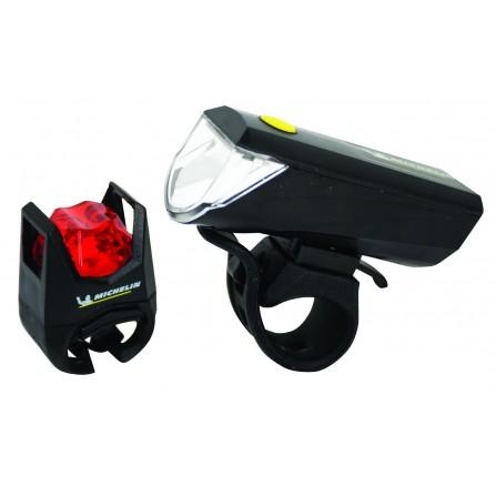 Kit d'éclairages avant + arrière Vélo MICHELIN