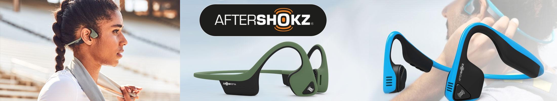Découvrez nos casques audio bluetooth AFTERSHOKZ à conduction osseuse pour rester vigilent aux bruits ambiants et sans risquer d'abîmer vos tympans