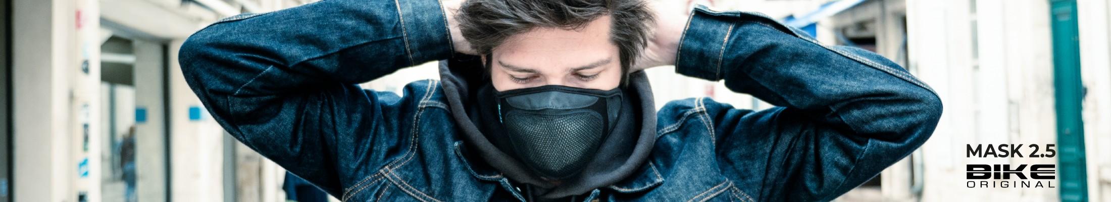 Découvrez le masque filtrant anti-pollution breveté BIKE ORIGINAL